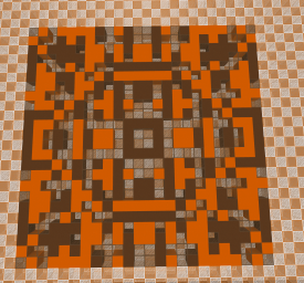 orange checker background
