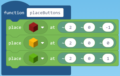 Place button code